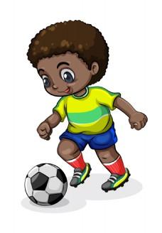 矢量运动踢足球EPS