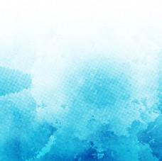 蓝色艺术水彩背景