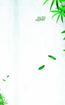 高清竹子展板背景图