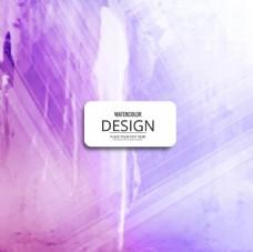 闪亮的紫色水彩画背景