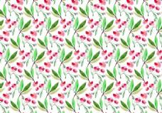 唯美清新水彩花卉背景素材