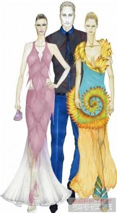 3款现代服装设计图
