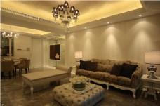现代欧式别墅客厅装修效果图