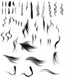 四款头发笔刷