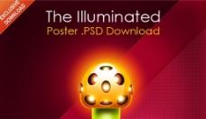 国外绚丽的海报设计PSD模板
