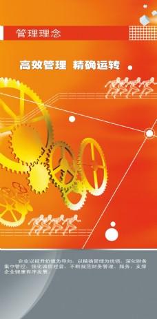 齿轮管理理念企业文化海报