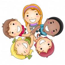 矢量儿童团结EPS