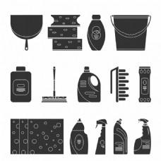 清洁用品图标图片