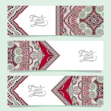 红色传统艺术花纹