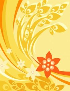 矢量花卉图案背景设计