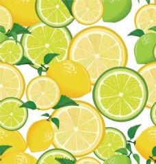柠檬片背景素材