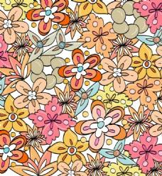 卡通矢量花卉背景素材