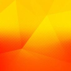 明亮的橙色多边形背景