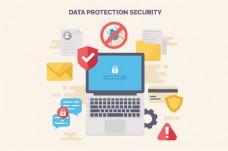 扁平化设计数据保护元素背景