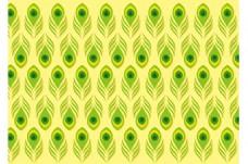 绿色清新孔雀羽毛背景