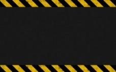 斑驳警示黄线背景