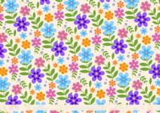 时尚手绘花卉背景