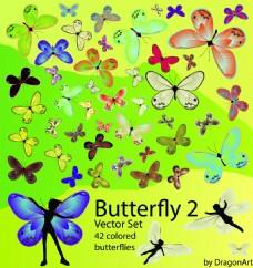 矢量蝴蝶元素设计背景