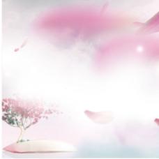 花瓣淡粉色背景素材