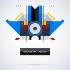 抽象彩色几何对称设计背景