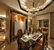 豪华餐厅吊灯大灯设计图