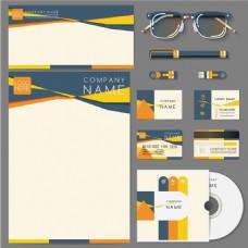 手绘商业文具vi设计模板