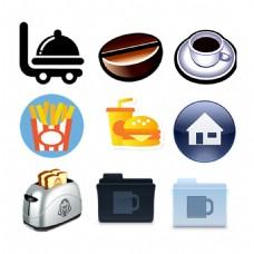 餐车食物食品ICON图标标志图片
