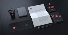 黑色高端VI设计提案PSD