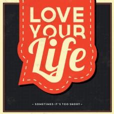 红黑色背景英文字体设计广告素材