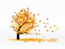 矢量秋季树木插画