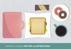 学校早餐插画