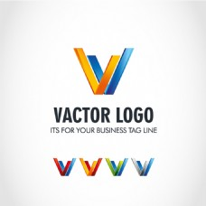 V形图标标志设计