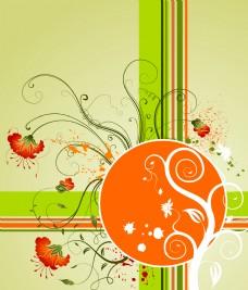 丝带装饰花纹花卉背景