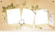 米色信纸树叶背景