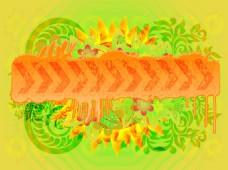 创意抽象太阳花背景素材