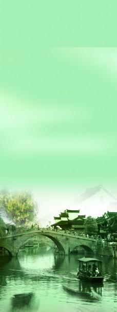 江南水乡素雅背景