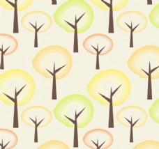 秋树无缝图案