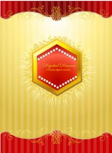 金色边框花纹背景