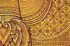 花纹图案金色花纹广告背景模板素材