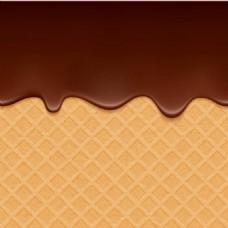 巧克力松饼背景矢量素材下载