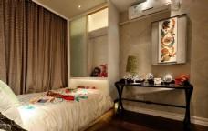 时尚卧室背景墙设计图