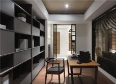 现代简约书房装修效果图