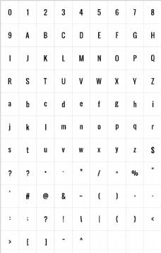 英文字体素材
