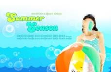 夏季海洋宣传广告PSD素材
