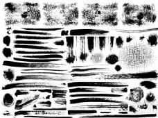 黑色墨迹边框