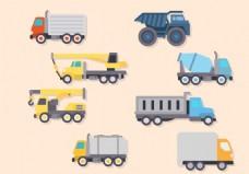 扁平化卡车图标