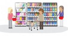 矢量超市购物EPS