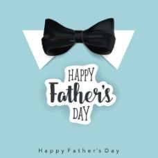 快乐的父亲节与领结背景