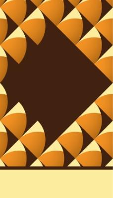 黄色几何图形背景