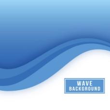 抽象蓝色波纹广告背景